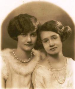 My grandmother (left) with her sister in the Roaring Twenties