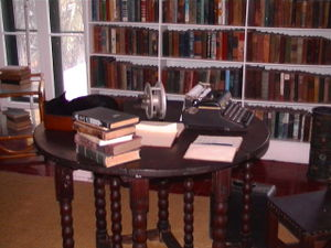 Ernest Hemingway's writing desk in Key West.
