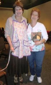 "With Janis and my just-purchased copy of ""The Cracker Kitchen"" at the Orange County Regional History Center, Orlando, FL"