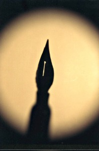 quill pen shadow